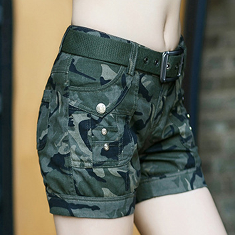 BabYoung Workout Shorts Women Shorts Army Green Military Camouflage - Women's Clothing - Photo 5