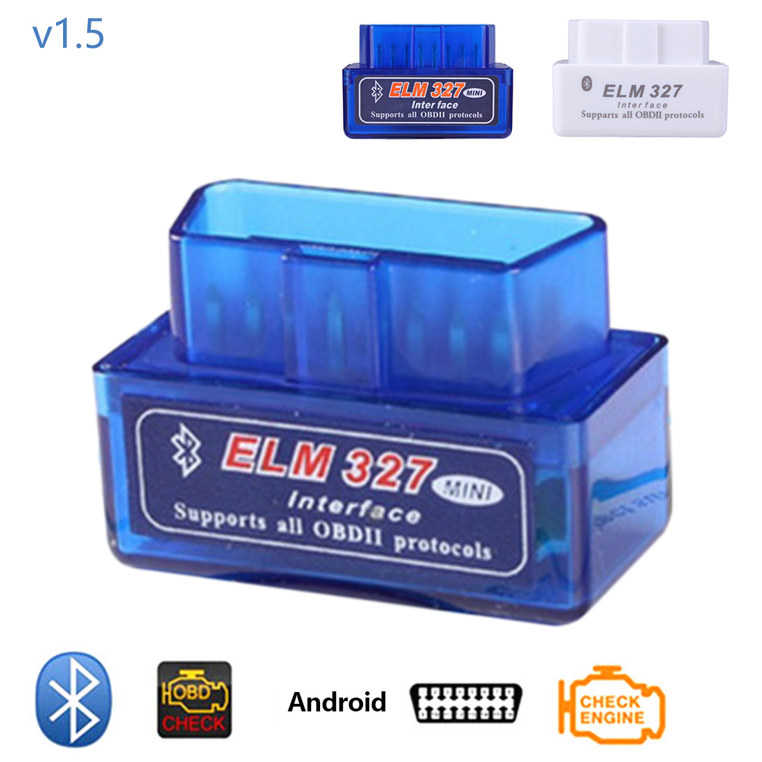 Dewtreetali с PIC18F25K80 V1.5 супер мини ELM327 Bluetooth ELM 327 V1.5 чип OBD2/OBDII для Android Крутящий момент автомобиль товара читатель