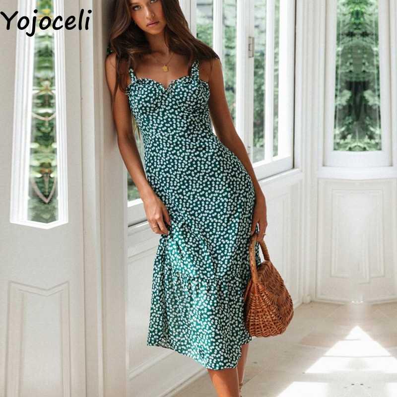 Yojoceli сексуальный кружевной Цветочный Рисунок длинное платье женское летнее элегантное Шифоновый Сарафан с бантом пляжное Повседневное платье vestidos