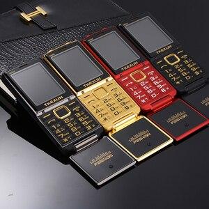 Image 2 - Unlocked Flip One Key Dual Torch One Key FM Bluetooth SOS Speed Dial Whatsapp Old Man Senior Metal Mobile Phone P210