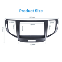 Seicane Luxuriant 2 Din Car Radio Fascia Panel kit for 2010 Honda Accord Europe/Spirior/ACURA SR9 Trim Install Frame Dash Kit