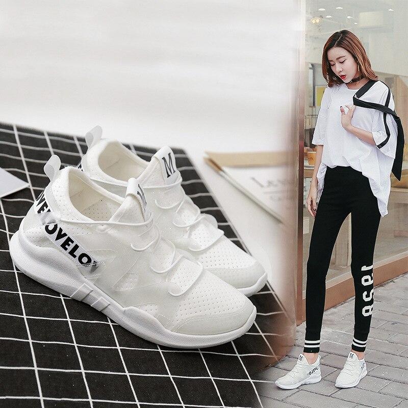 100% Vero Sk Nuova Primavera Estate Coreano Scarpe Sportive Respirabili Delle Donne Selvaggio Off Bianco Scarpe Femminili Studenti Scarpe Netti Scarpe Casual Piattaforma
