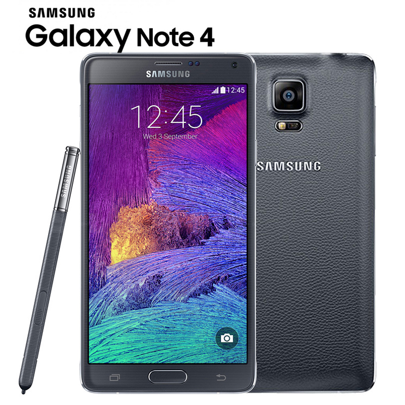 "Original Unlocked Samsung Galaxy Note 4 N910 N9100 LTE 4G Mobile Phone 16.0MP 5.7"" NFC 3GB RAM"