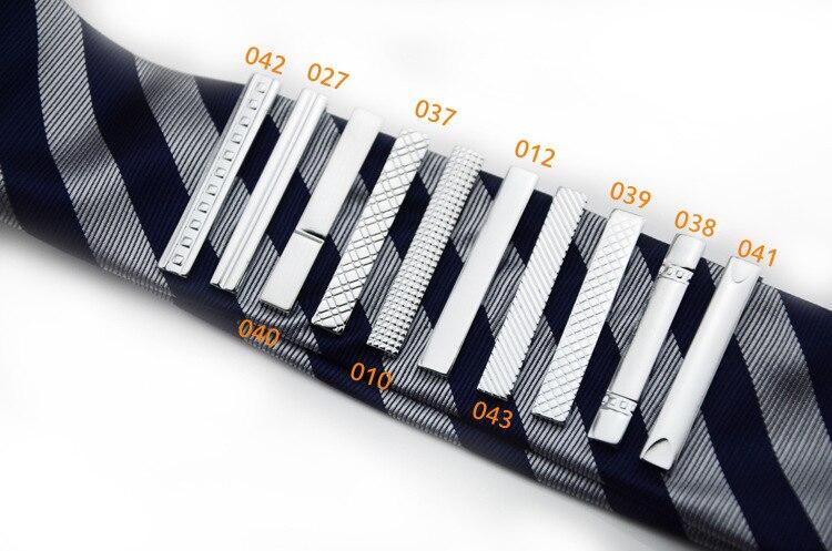 Long 4 CM 10 Model High Quality Retail Short Silver Men Metal Necktie Tie Bar Mens Chrome Clamp Plain Skinny Tie Clip Pins Bars