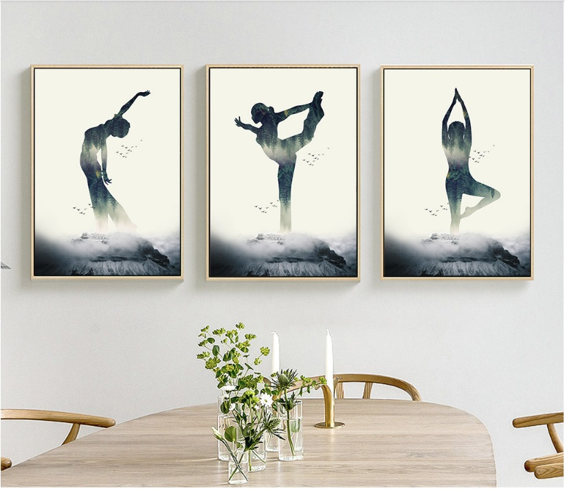 Yoga, Silhouette, Room, Figure, Home, Children