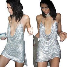 Kendall Jenner 21st Birthday Outfits Sexy Halter Sequined Party font b Dresses b font 2017 Summer