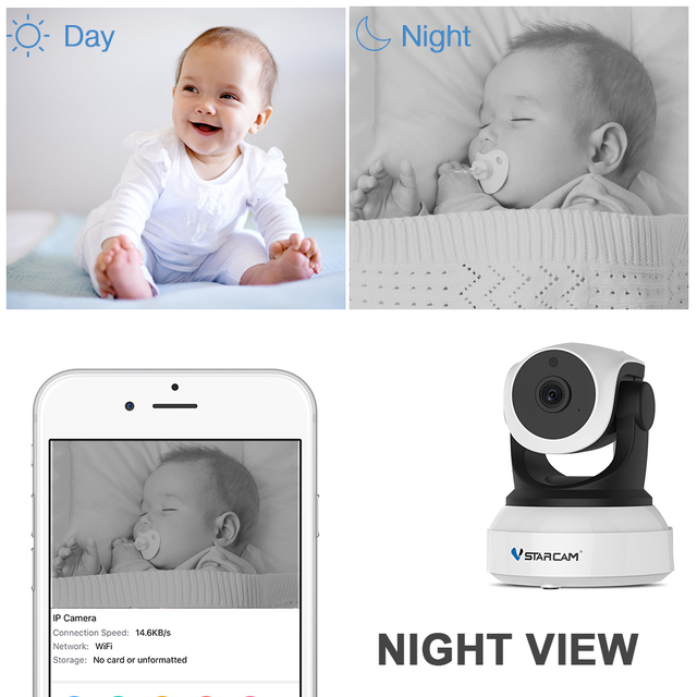 Vstarcam C7824WIP Baby Monitor wifi 2 way audio smart camera with motion detection Security IP Camera Wireless Baby Camera 1