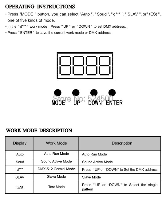 Aucd mini ir remoto 8ch dmx 100