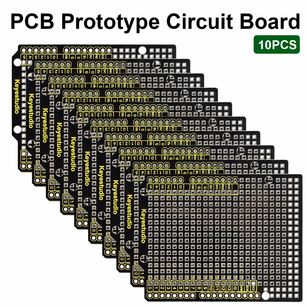 10PCS Keyestudio Prototype P CB Board For Arduino UNO R3 Shield Board FR-4 Environmentally Friendly