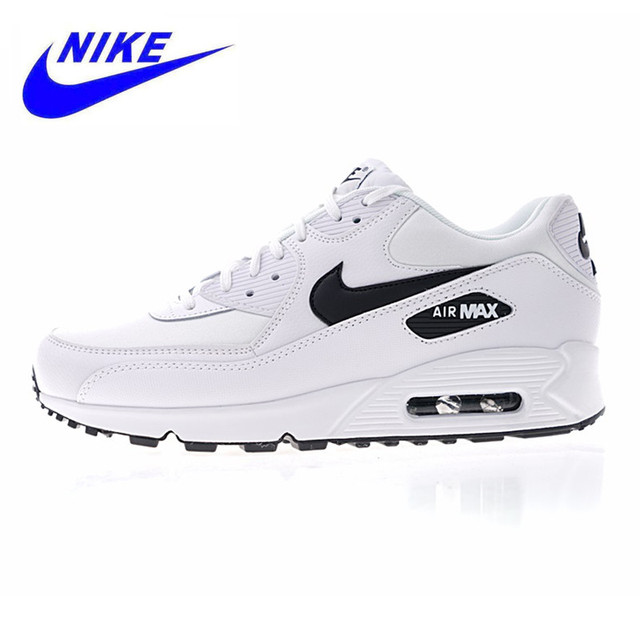 NIKE AIR MAX 90 ESSENTIAL Men's and Women's Running Shoes,White, Shock-absorbing Lightweight Breathable 325213 131