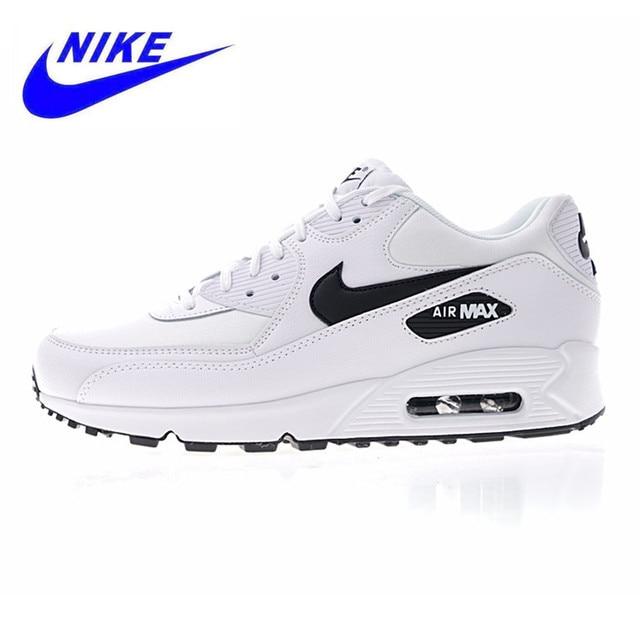 NIKE AIR MAX 90 esencial de los hombres y de las mujeres Zapatos blanco amortiguador ligero transpirable 325213 de 131