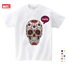 New Children Lovely skeleton Print T-shirt Clothes For Summer Short Sleeve Solid Tee Tops Boys/Girls Casual Tops Baby Clothing недорого