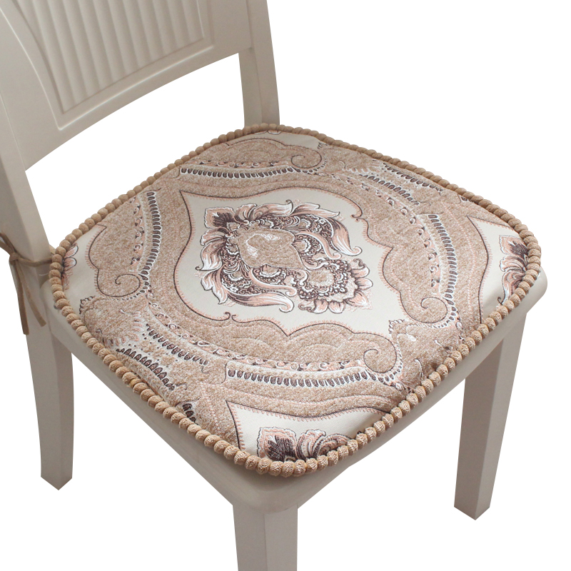 Not Shrink Table Dining Chair Cushion Thickened European Fabric Decorativos For Home Non-slip Coussins Coussin Almofada NonShift