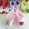Mão de malha berço sapatos de bebê recém-nascido da criança infantil Animal dos desenhos animados enfeites sapatos de crochê