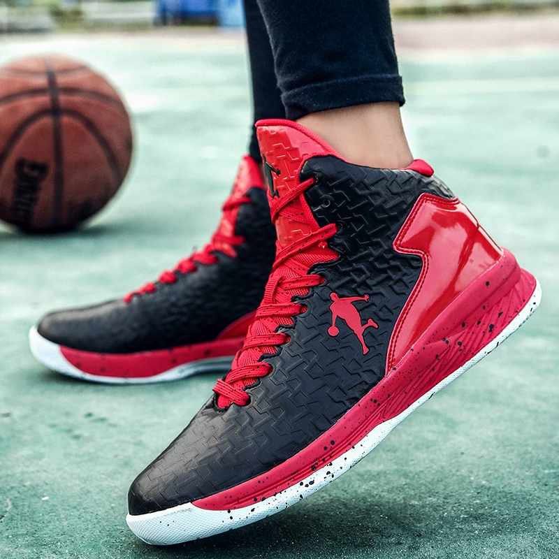 High Top Basketball Shoes Men Cushioning Damping Sneakers Outdoor Boys Students Training Ball Shoes Big Size 36-47 Basket homme image