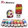 4 ГБ футбольная команда 8 ГБ USB FLASH DRIVE Чемпионат Европы 16 ГБ Ручка Drive 32 ГБ Memory stick 64 ГБ Диск USB 2.0 ключ флешки с цепи