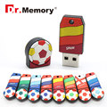 4gb soccer team 8gb USB FLASH DRIVE Euro Cup  16gb Pen Drive 32gb Memory stick  64gb USB Disk 2.0 key pendrive with chain