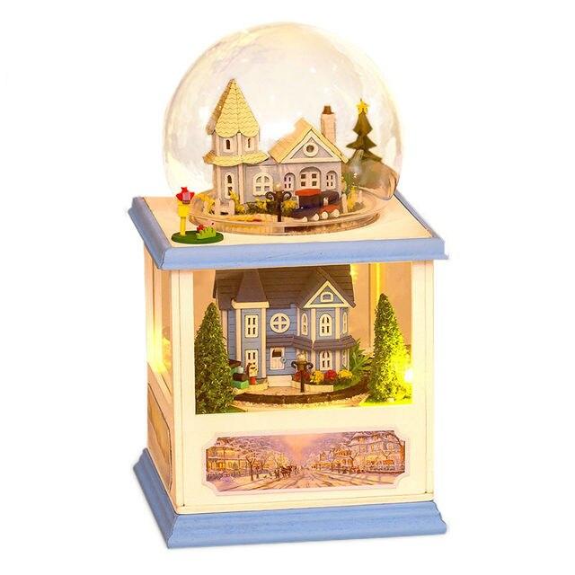 2016 Новых Прибыть Diy Кукольный Домик Миниатюре 3D Деревянный Кукольный Домик миниатюрный Мебель Для Детей Игрушки куклы дома Подарок На День Рождения