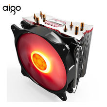 Aigo CPU Cooler Heatsink dengan Empat Kontak Langsung Panas Pipa & 120 Mm PWM Biru LED Fan Komputer Cpu Air pendingin Cooler E4(China)