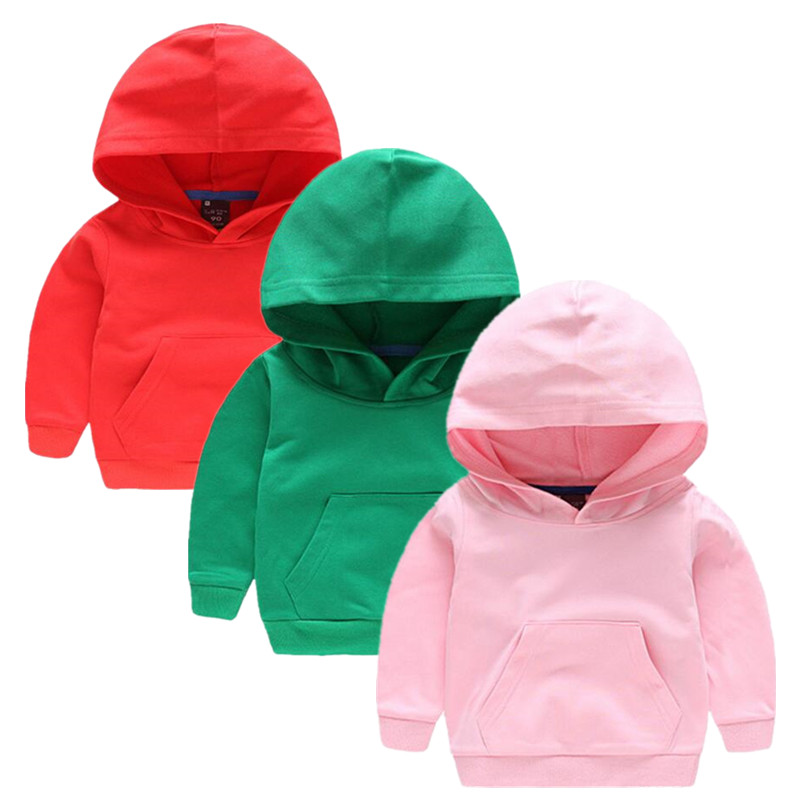 2017 Children Hoodies Baby Boys Girls Jacket Outdoor Coat Autumn Spring Fashion Coat with Cap Cotton Clothes Pink Green 8 Colors