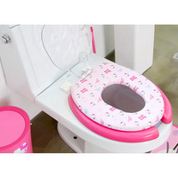 Hello Kitty baby and adult toilet cover Hello Kitty toilet seat covers 36*46cm