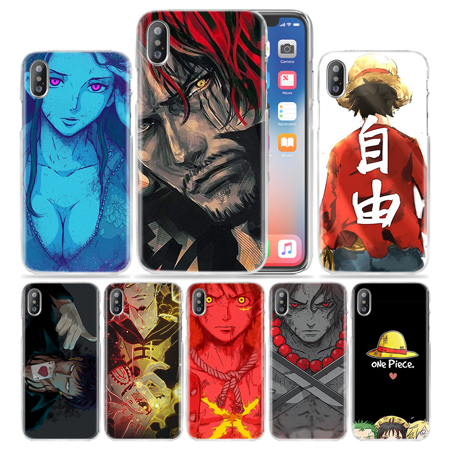 One Piece <font><b>D</b></font> Luffy Case for <font><b>iPhone</b></font> XS Max XR X 10 7 7S 8 6 <font><b>6S</b></font> Plus 5S SE 5 4S 4 5C 6+ <font><b>6S</b></font>+ 7+ 8+ Hard PC Anime Phone Cover <font><b>Coque</b></font> image