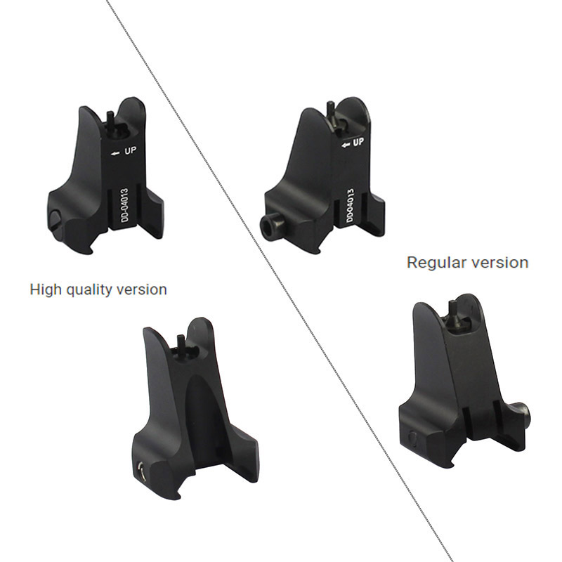 Image 5 - Tactical Fixed Front & Rear Sight Streamline Design Standard AR15 Apertures Iron Sights BK Hunting accessoriesrear sightiron sightsaperture sights -