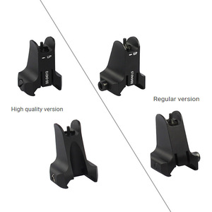 Image 5 - Tactical Fixed Front & Rear Sight Streamline Design Standard AR15 Apertures Iron Sights BK Hunting accessories