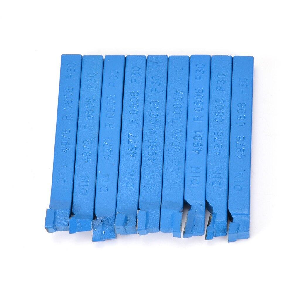 11 teile/satz Hartmetall Cutter Werkzeug 8*8mm Gelötete Fräsen Werkzeuge Bit Set Für CNC Drehmaschine