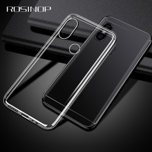 ROSINOP Soft Transparent TPU Phone Case For xiaomi Mi 8 lite a2 6 Max 3 Mix redmi Note 5 pro 7 4 Original Cover