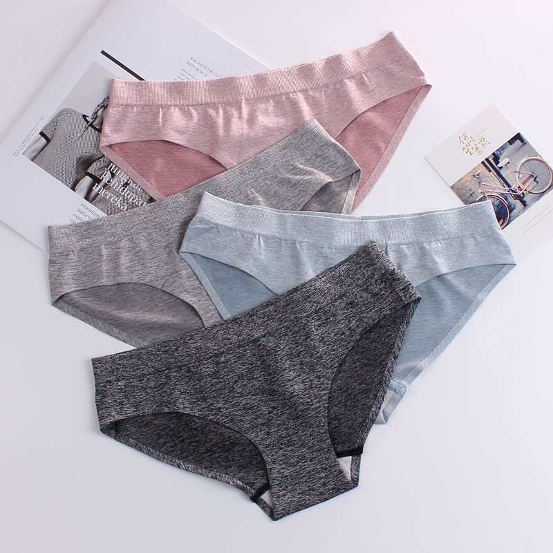 Sexy Seamless Ice Silk Soft Cozy Briefs Elastic Breathable Women Low Waist Panties Calzones Sexy Ropa Interior De Mujer