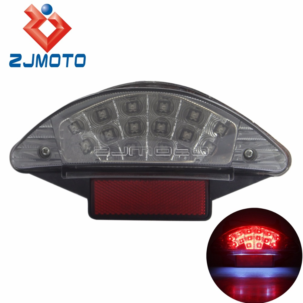 New Motorcycle LED Tail Light Rear Light Clear Lens Reflector For BMW F650 F800 R1200 image