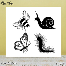 ZhuoAng  Beautiful snail and bee transparent silicone stamp / DIY scrapbook photo album decorative seal