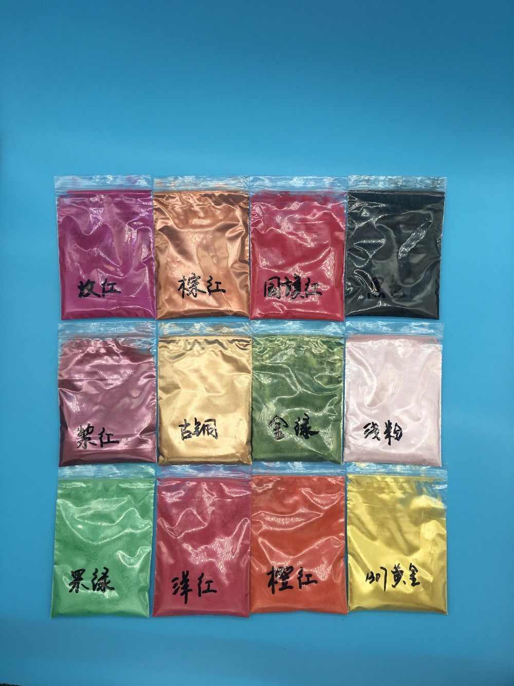 Moda Girişim altın yeşil Renk Sedefli pigment, inci cilası pigment, Mika Tozu DIY Tırnak Tasarım, Oje