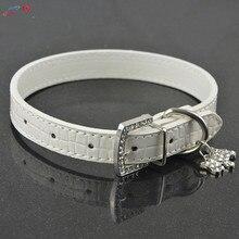 Bling Rhinestone Crystal Leather Pet Dog/Cat Collars