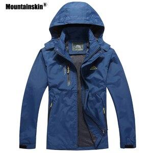 Image 4 - Мужская повседневная куртка Mountainskin, водонепроницаемая ветровка с капюшоном, брендовая одежда, размеры до 5XL, осень 2020