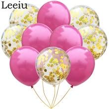 Leeiu 10 τεμαχίων χρυσά μπαλόνια Cofetti Νυφική ντουσιέρα Γάμος διακοσμητικά μπαλόνια λάτεξ Χρόνια μπαλόνια Party Supplies
