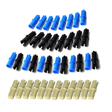 100Pcs/Lot Technic Axle Pin Connectors without Friction Ridges Lengthwise 3749 MOC Brick DIY Toys Compatible with lego 6562