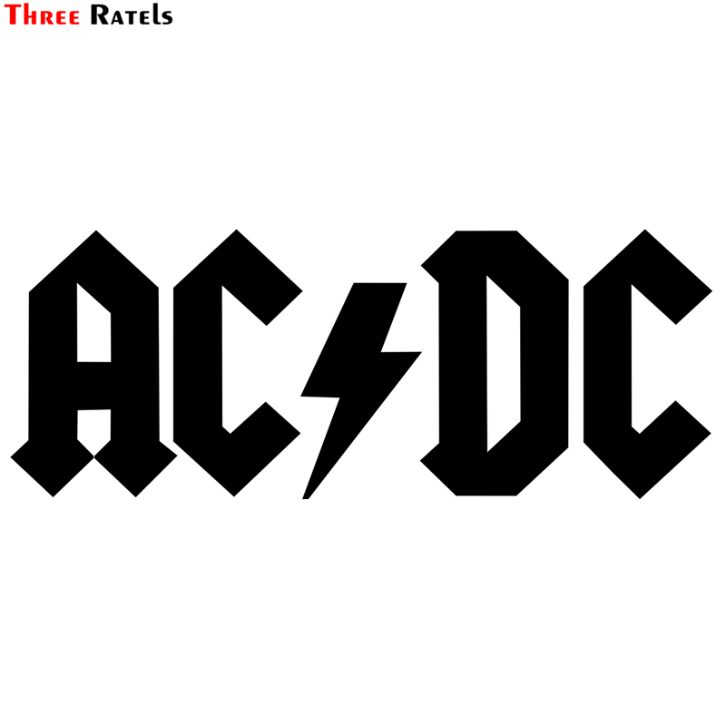 Three Ratels TZ-1364# 11.6*30cm 1-3 Pieces Car Stickers AC/DC Funny Car Sticker Auto Decals