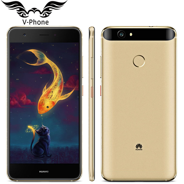 """Оригинальный Huawei Nova 4 г LTE мобильный телефон 4 ГБ 64 ГБ MSM8953 Octa Core 5.0 """"FHD 1920X1080px двойной SIM 12MP 3020 мАч отпечатков пальцев"""