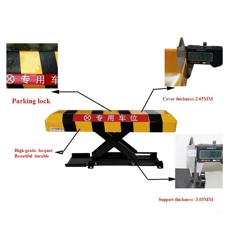 Manual Parking Lock Bollard Post Car Parking Blocker, Car Parking Barrier,