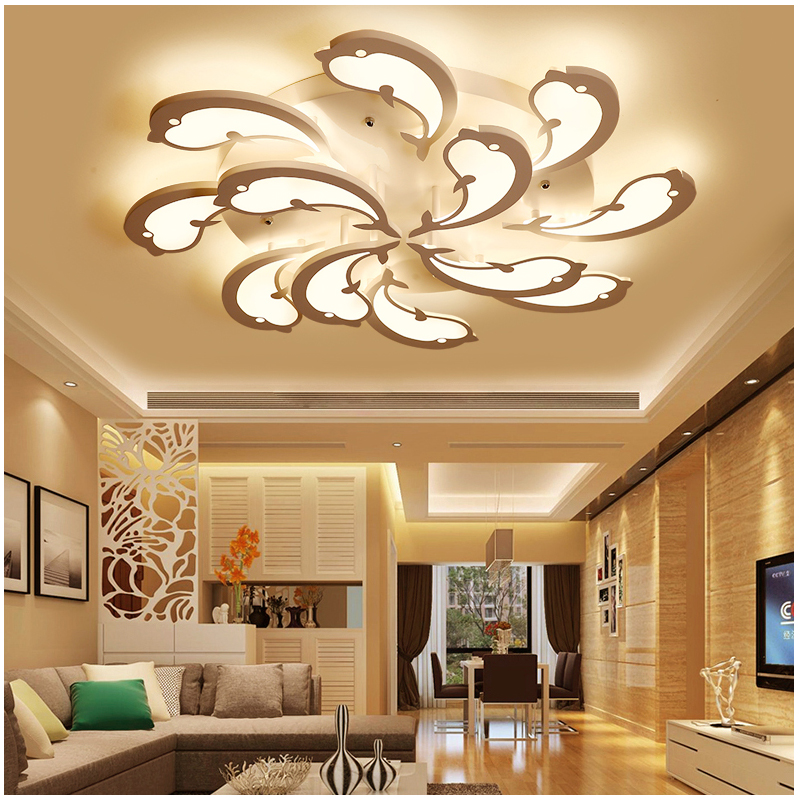 Modern LED Ceiling Lights for living room lampada led Dolphin Art Design indoor lighting ceiling lamp led strip acrylic shade защитное стекло для asus zenfone 2 laser ze500kl ze500kg skinbox