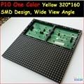 Один цвет желтый светодиодный модуль, smd полу-открытый, крытый использовать 320*160 32*16, hub12 монохромный, широкий угол обзора, высокая яркость