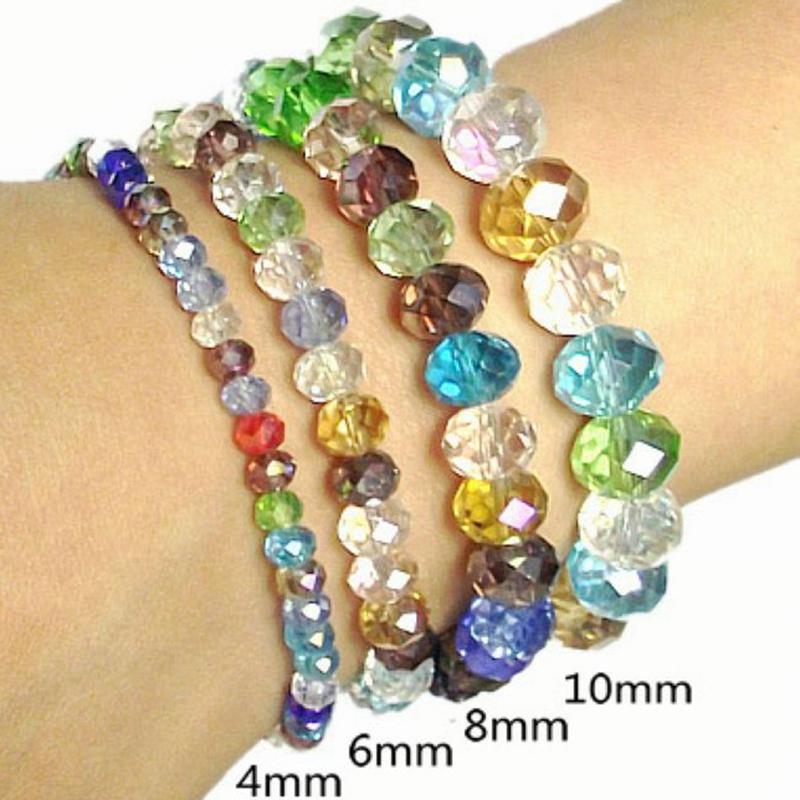 Charming Bijoux Fait Main Pas Cher #3: 1 Pcs Marque Nouveau Pas Cher Bracelets Faits Main De Mode Coloré Crystal  Stretch Perle Bracelets
