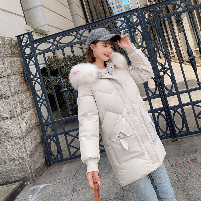 Brieuces new Winter Women Short Jacket Mujer Hooded Parkas Winter Coat Women Loose Parka Fur Collar Cotton Padded Jackets in Parkas from Women 39 s Clothing