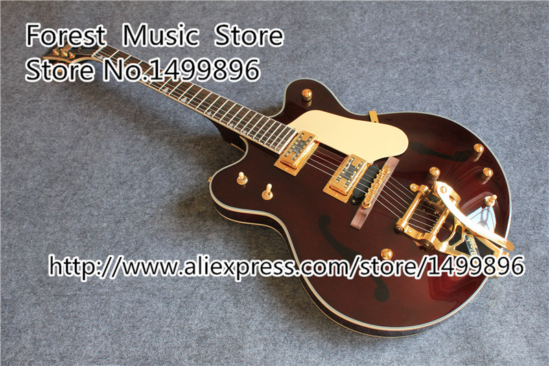 New Arrival G6122-1962 Electric Guitar Atkins Country Gentleman China OEM Guitars In Stock vicers guitars china maple fingerboard t ele caster electric guitar in stock free shipping