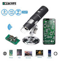 Microscopio Digital WiFi 1080 P 1000X para teléfono móvil Android Iphone 8 LED 3in1 niños microscopio Digital USB endoscopio Zoom cámara