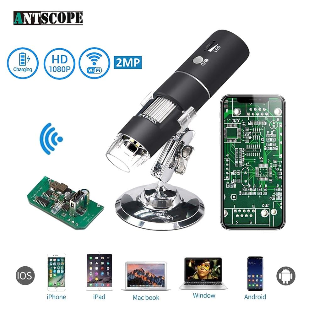 1080 p 1000X WiFi Digital Mikroskop für Android Iphone Handy 8 LED 3in1 kinder Digital Mikroskop USB Endoskop Zoom kamera