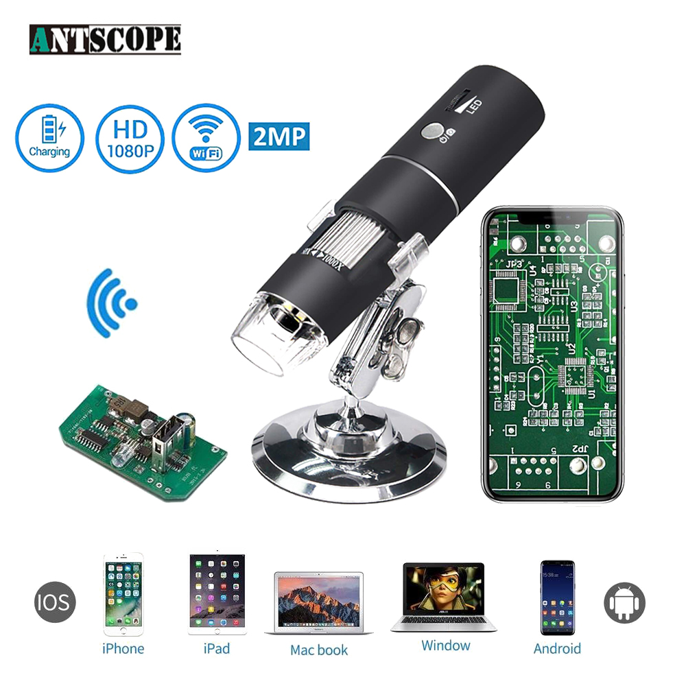 1080P 1000X WiFi Digital Microscope for Android Iphone Mobile Phone 8 LED 3in1 kids Digital Microscope USB Endoscope Zoom Camera digital wifi microscope camera with android ios mobile phone live monitoring app