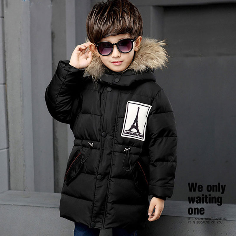 Thick Hooded Down Jackets For Child Boys Russia Winter Warm Outerwear Sport Coats Kids Boy Fashion Snow Wear Parka Children Coat casual 2016 winter jacket for boys warm jackets coats outerwears thick hooded down cotton jackets for children boy winter parkas